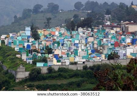 Cemetery outside of Guatemala City - stock photo
