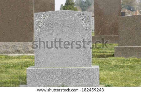 Cemetery Tombstones - stock photo