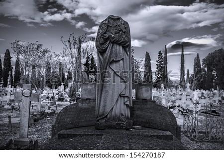 cemetery virgin - stock photo