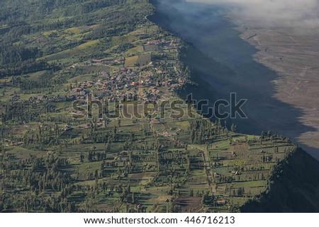 Cemoro lawang village at mount Bromo in Bromo tengger semeru nat - stock photo