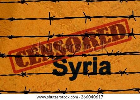 Censored Syria - stock photo
