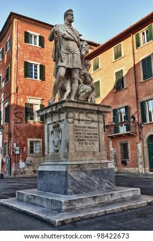 center in the city of Pisa. Tuscany, Italy. - stock photo