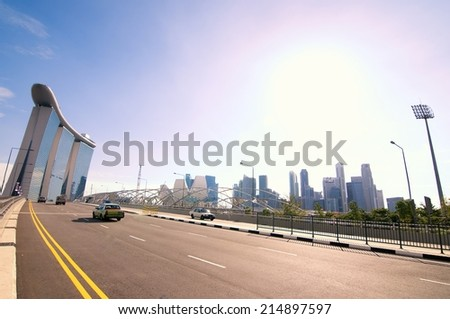 Center park in Singapore - stock photo