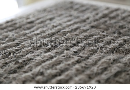 Central Air condition system filter with dust - stock photo