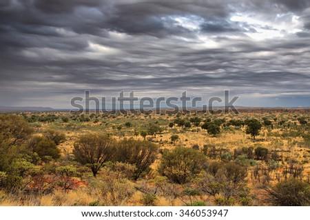 Central Australian Outback Scenery, Northern Territory, Australia - stock photo