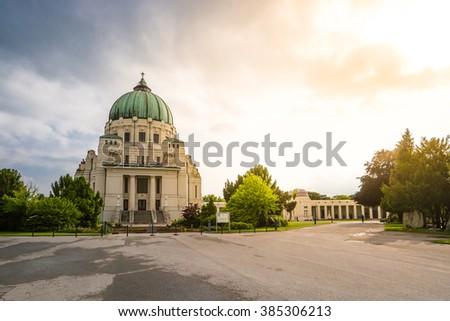 Central Cemetery, Charles Borromeo Church, Vienna - stock photo