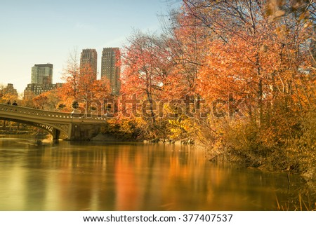 Central Park Autumn - stock photo