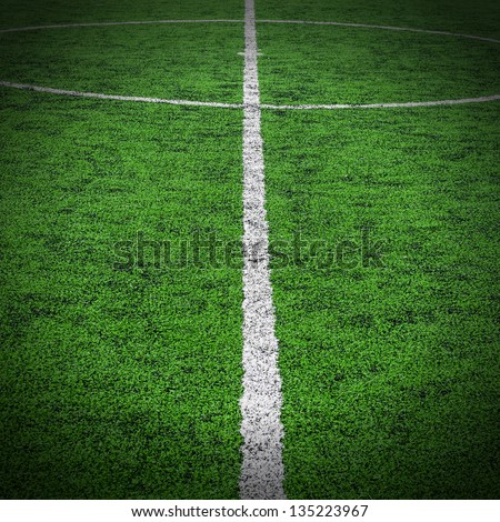 Central part of a football (soccer) field. - stock photo