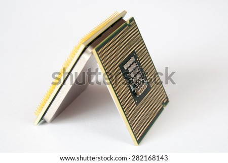 Central Processing Unit (CPU) isolated - stock photo