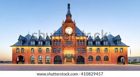Central Railroad of New Jersey, Liberty State Park - New York - stock photo