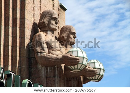 Central railway station - Helsinki, Finland  - stock photo