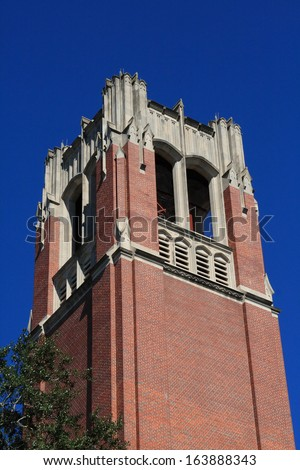 Century Tower at the University of Florida located in Gainesville Florida - stock photo