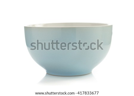 ceramic bowl isolated on white background - stock photo