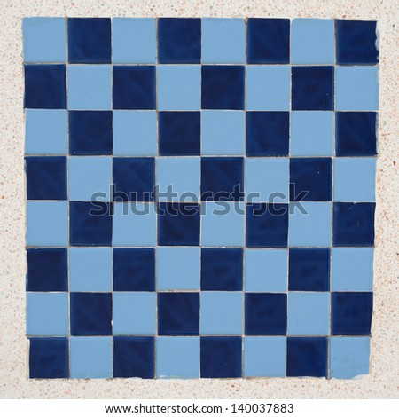Ceramic chess board  on marble background - stock photo