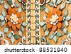 ceramic decoration in wat pho, Bangkok, Thailand - stock photo