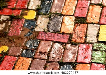 Ceramic floor background - stock photo