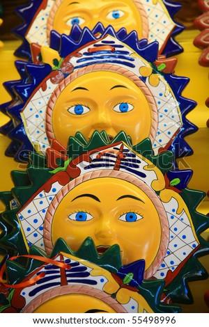 ceramic Souvenir,cozumel,Mexico. - stock photo