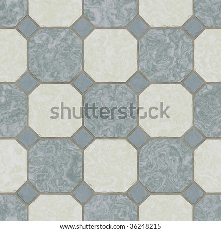 ceramic tile kitchen floor - seamless texture - stock photo