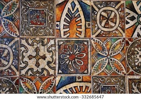 ceramic tile pattern - stock photo