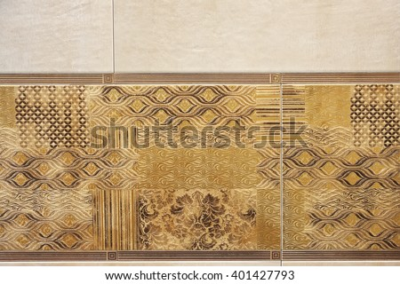 ceramic tile pattern ceramic tile pattern witch pattern, background - stock photo