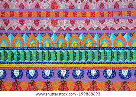 Ceramic tile patterns and colors. - stock photo