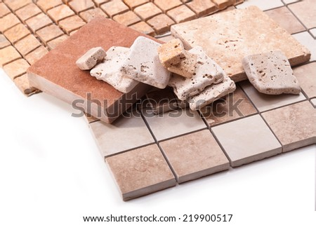Ceramic tiles in a mosaic form - stock photo