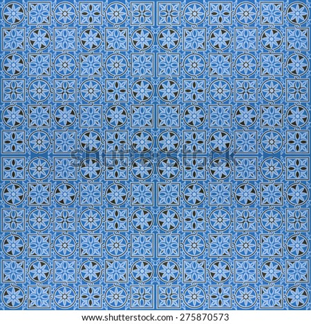 ceramic tiles patterns vintage - stock photo
