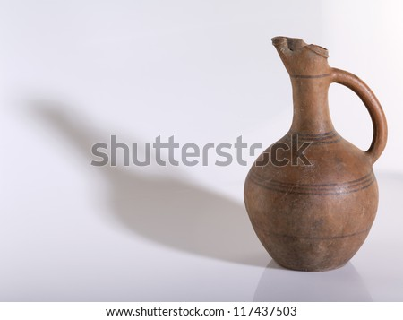 ceramic vase on a light background - stock photo