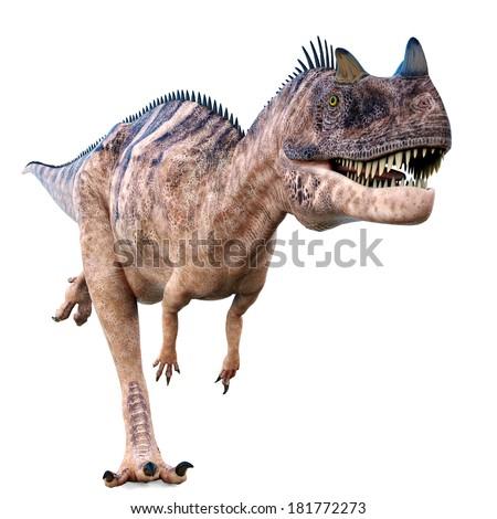 ceratosaurus running - stock photo