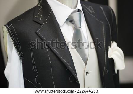 Ceremony handmade man Suit technique model - stock photo