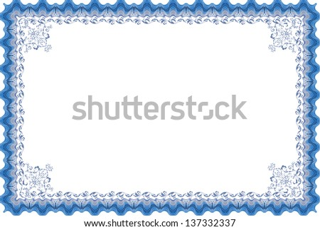 Certificate border. - stock photo
