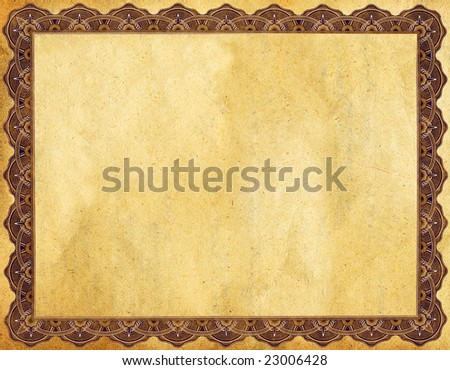 Certificate / Faded Textured - stock photo