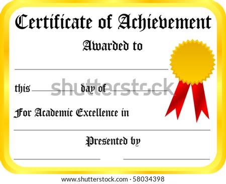 Certificate of Achievement Template - stock photo