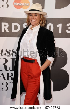 Cerys Matthews arrives for the Classic Brit Awards 2013 at the Royal Albert Hall, London. 02/10/2013 - stock photo