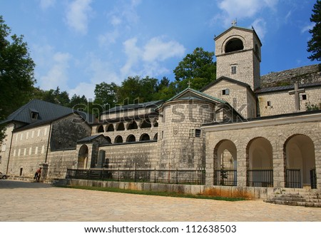 Cetinje Monastery in Montenegro - stock photo
