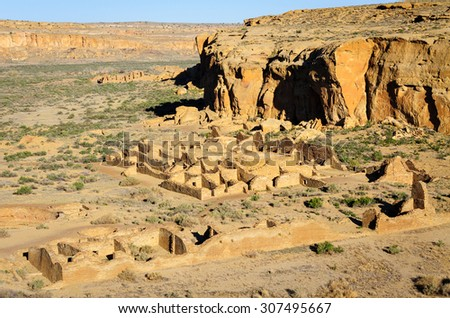 Chaco Culture National Historical Park - stock photo
