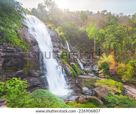 Chaimai Waterfall, Chiangmai, Thailand (Wachiratarn Waterfall)  - stock photo