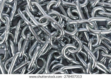 Chain heap - abstract metal background - stock photo