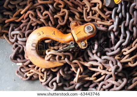 Chain hook - stock photo