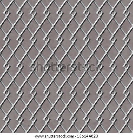 Chain Linked Fence Background that is seamless and repeats - stock photo