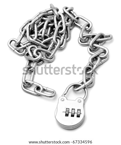 chain on a white background - stock photo