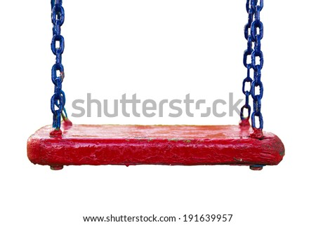 Chain swing isolated on white - stock photo