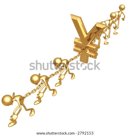 Chained To Yen - stock photo