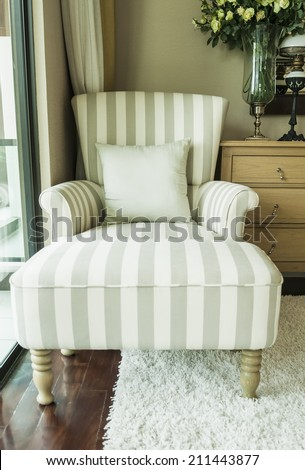 chair in living room - stock photo