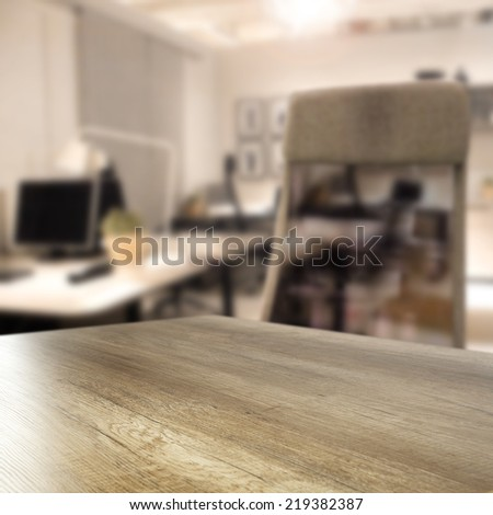 chair in office and desk  - stock photo