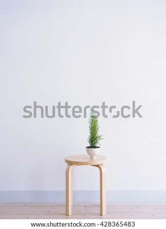 chair in the room - stock photo