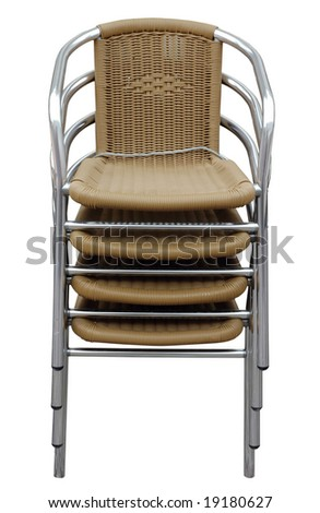 chair isolated on white with clipping mask - stock photo