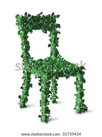 chair made of leaves - stock photo