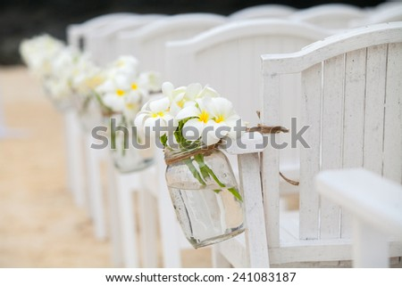 Chair setting for Wedding - stock photo
