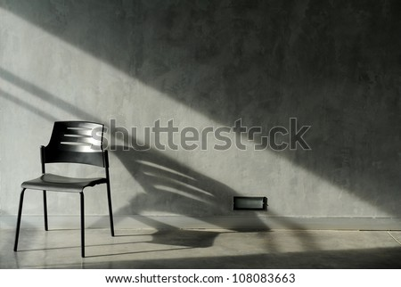 chairs and wall - stock photo